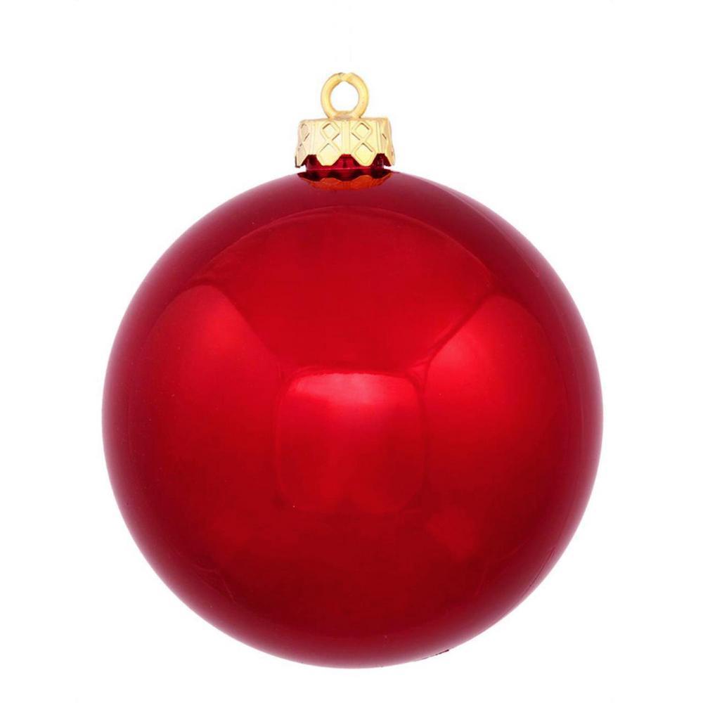 Shatterproof Shiny Red Hot Christmas Ball Ornament