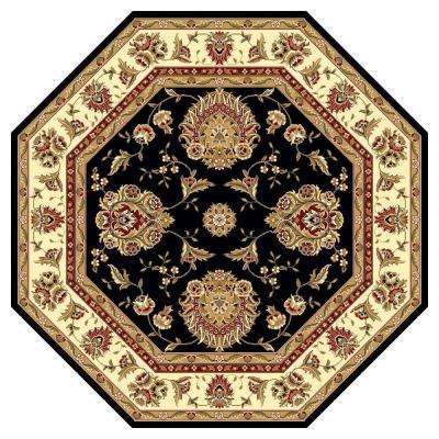 Classic Mahal Black 7 ft. 7 in. x 7 ft. 7 in. Octagon Area Rug