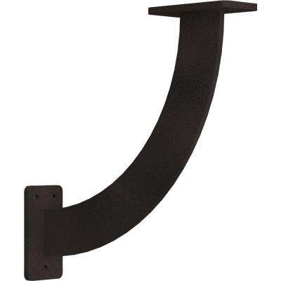 2 in. x 11 in. x 11 in. Steel Hammered Brown Bradford Bracket