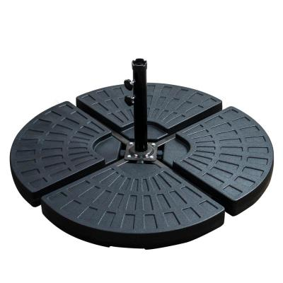 Patio Premier 5 lbs. Plastic Patio Umbrella Base in Black