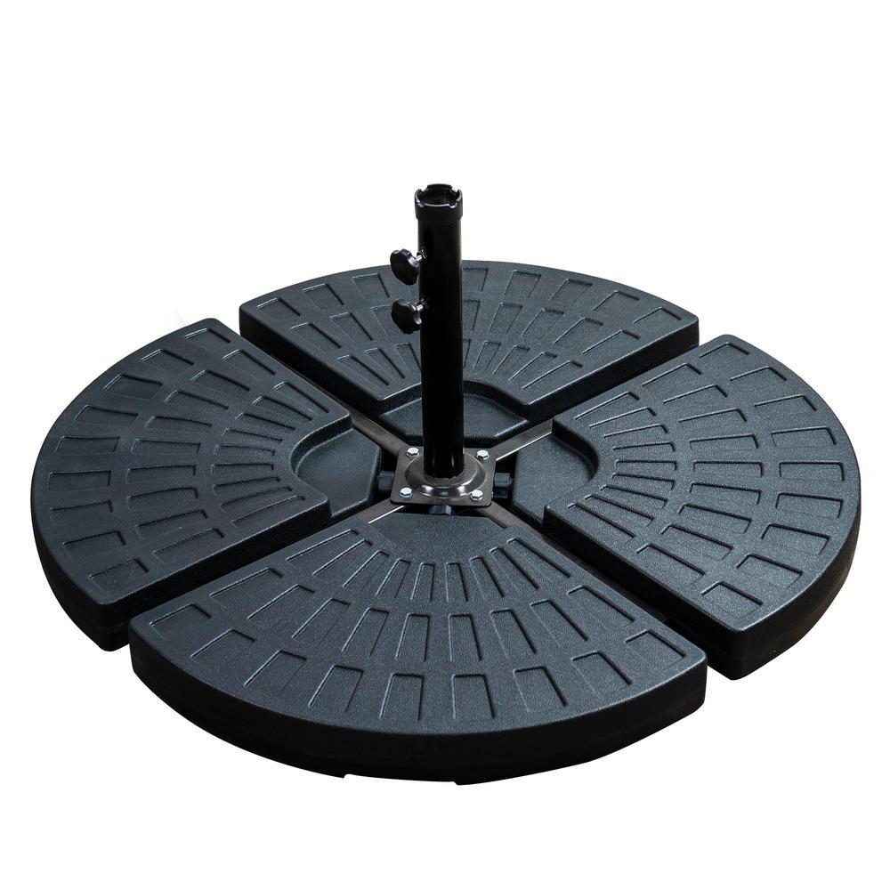 Patio Premier 5 lbs. Plastic Patio Umbrella Base in Black