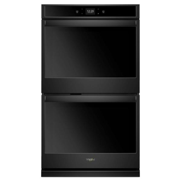 27 in. Double Electric Wall Oven in Black