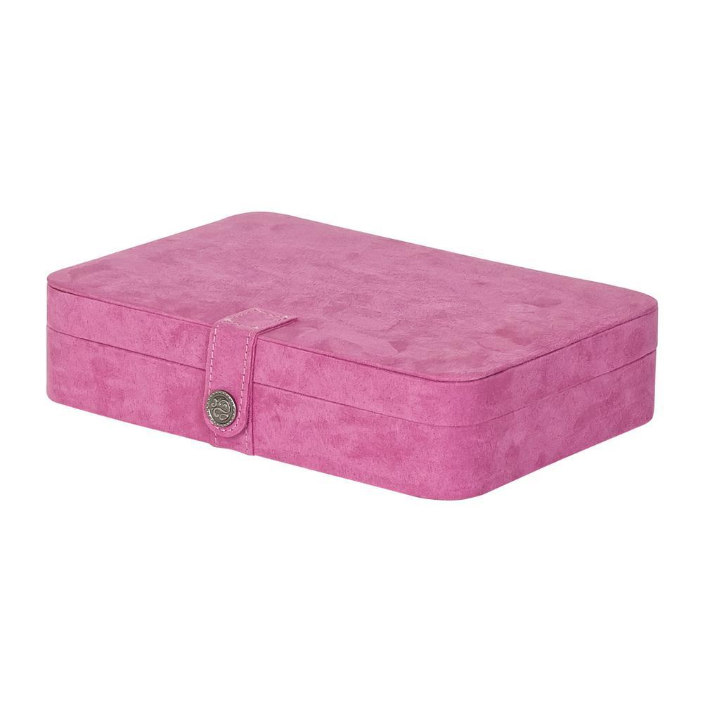 Maria Pink Plush Fabric Jewelry Box