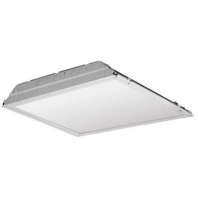37 -Watt Matte White Integrated LED Troffer Smooth Lay-in Lens