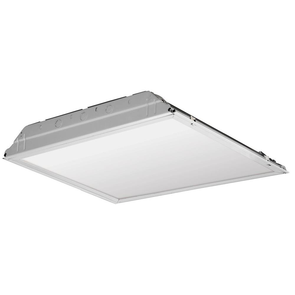 2 ft. x 2 ft. White LED Lay-in Troffer with Smooth