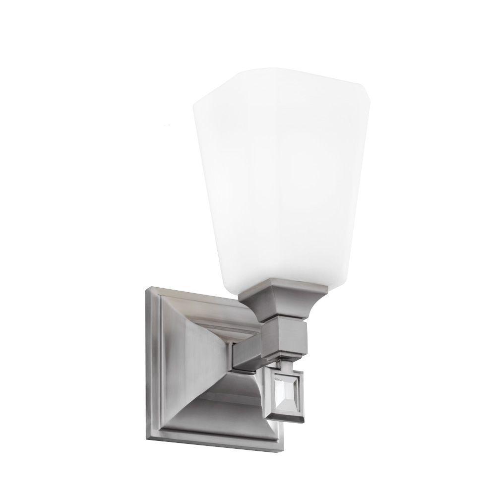 Feiss Sophie 4.625 in. W. 1-Light Brushed Steel Wall Bracket