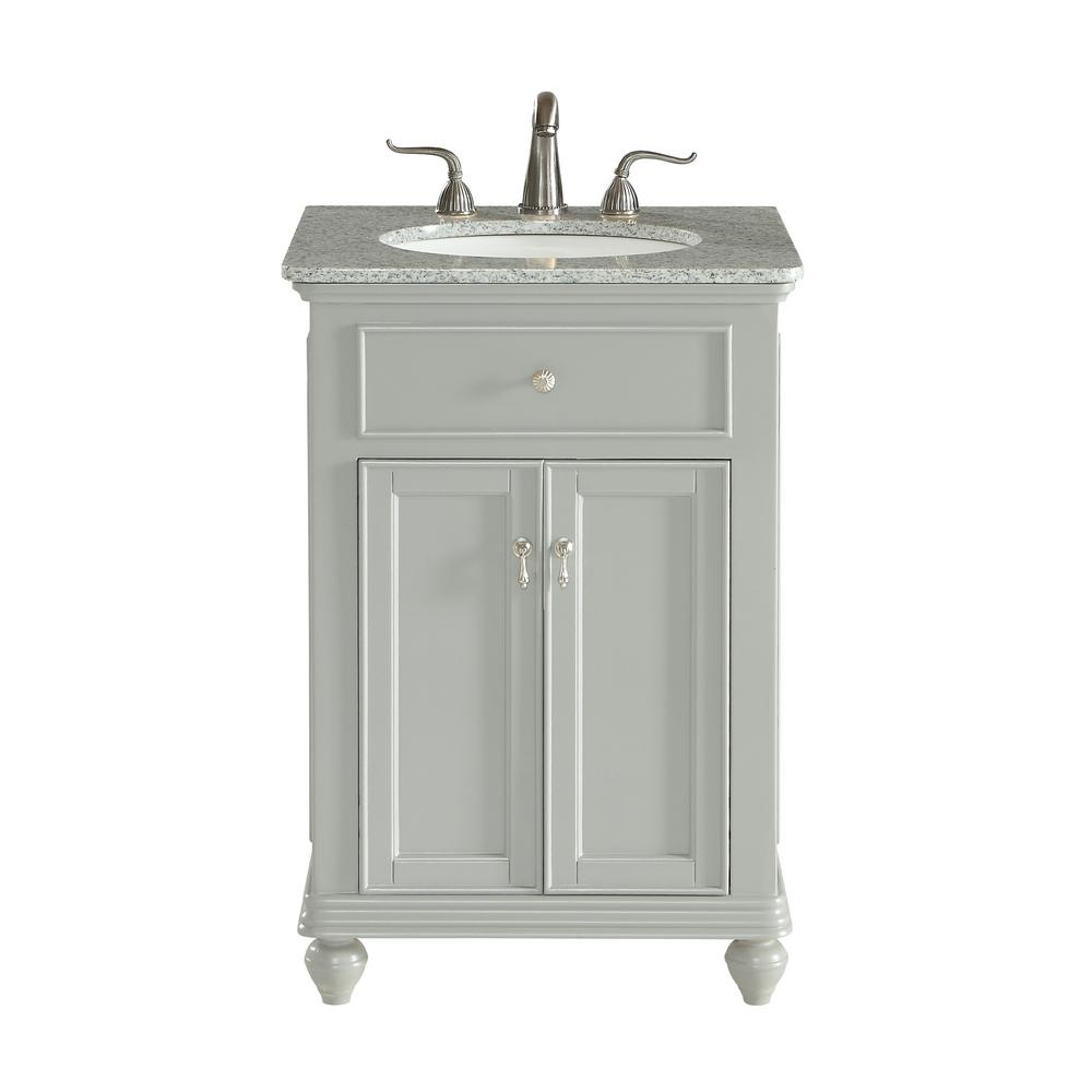 Somerton 24 in. Single Bathroom Vanity with 1-Shelf 2-Doors Granite Top