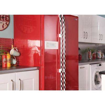 26 in. x 78 in. Glossy Red Home Decor Self-Adhesive Film
