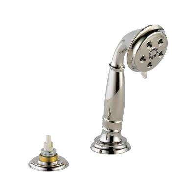 Cassidy 3-Spray Handheld Showerhead with Transfer Valve in Polished Nickel
