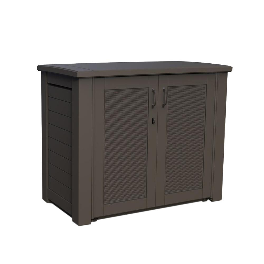 Rubbermaid 123 Gal Bridgeport Resin Patio Cabinet 1863391 The Home Depot