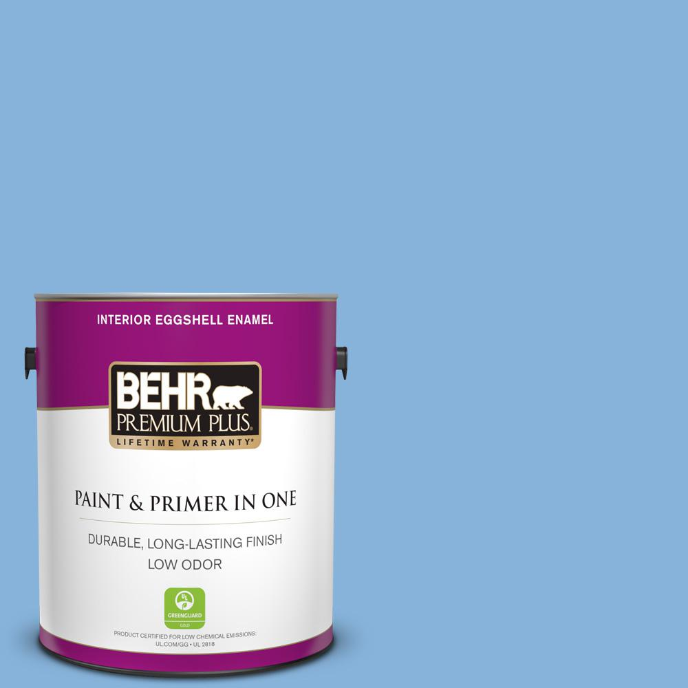 Behr Premium Plus 1 Gal 570b 4 Bayou Eggshell Enamel Low Odor Interior Paint And Primer In One 240001 The Home Depot