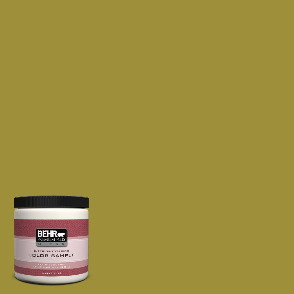 BEHR Premium Plus Ultra 8 oz. Home Decorators Collection Banana Leaf Interior/Exterior Paint Sample