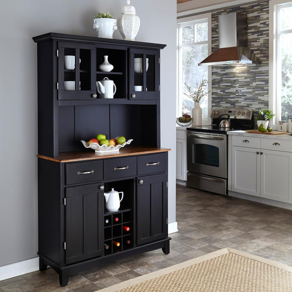 Home Styles Black Buffet With Hutch