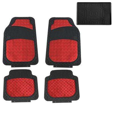 Trimmable High Quality Metallic 28 in. x 18 in. Rubber Floor Mats