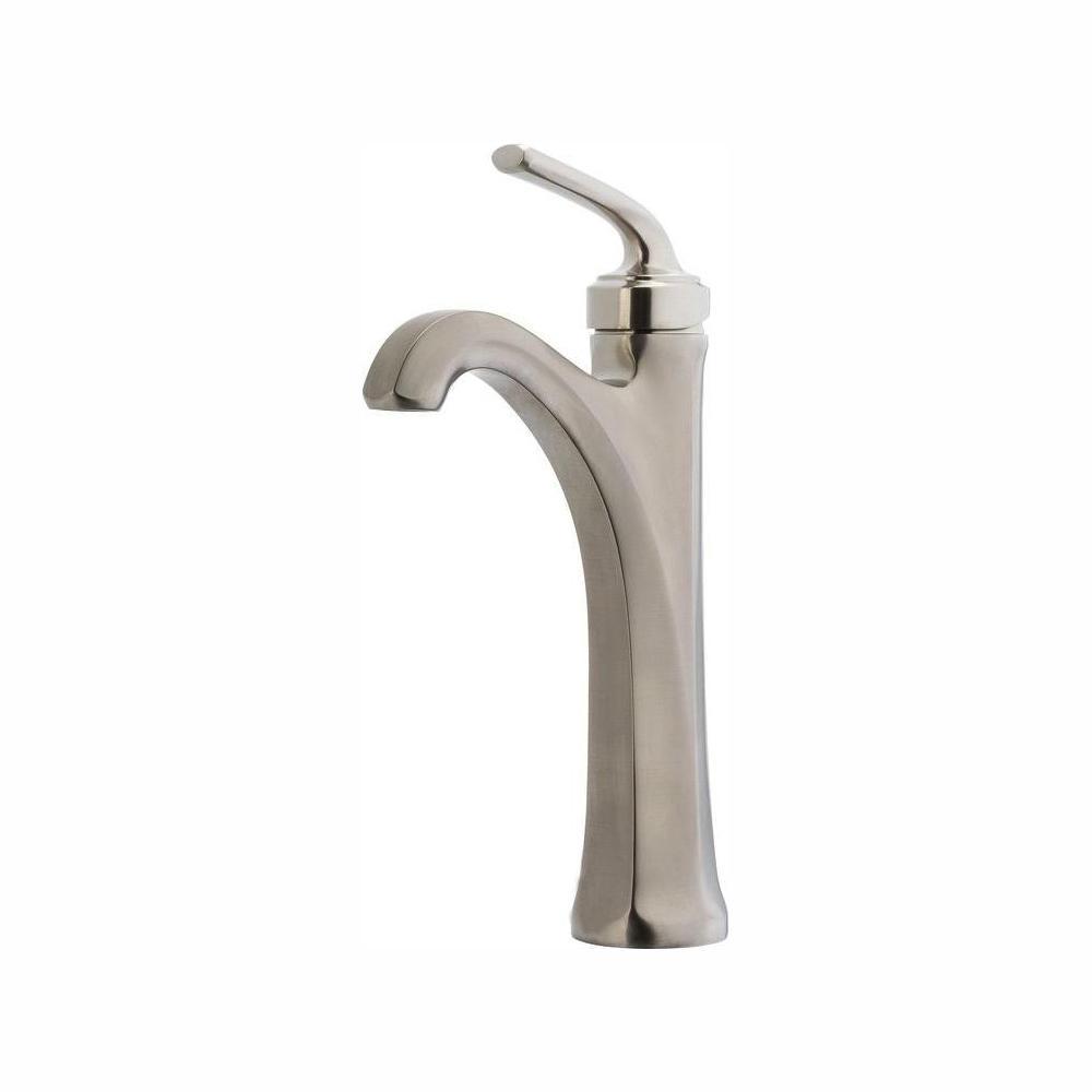 Pfister Arterra Single Hole Single-Handle Vessel Bathroom Faucet in Brushed Nickel