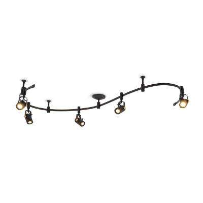 8 ft. 5-Light Oil Rubbed Bronze Integrated LED Track Lighting Kit