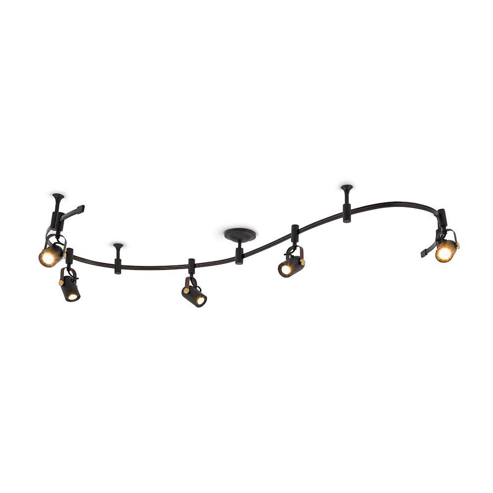 8 ft. 5-Light Oil Rubbed Bronze Integrated LED Track Lighting Kit