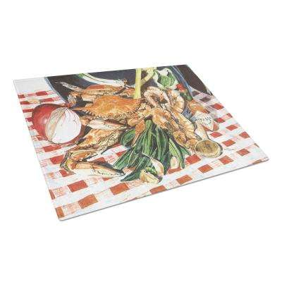 Crab Boil Tempered Glass Large Heat Resistant Cutting Board