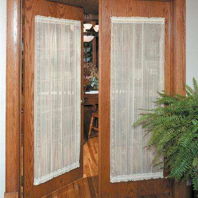 Sand Shell 45 in. W x 72 in. L Lace Door Panel in Ecru