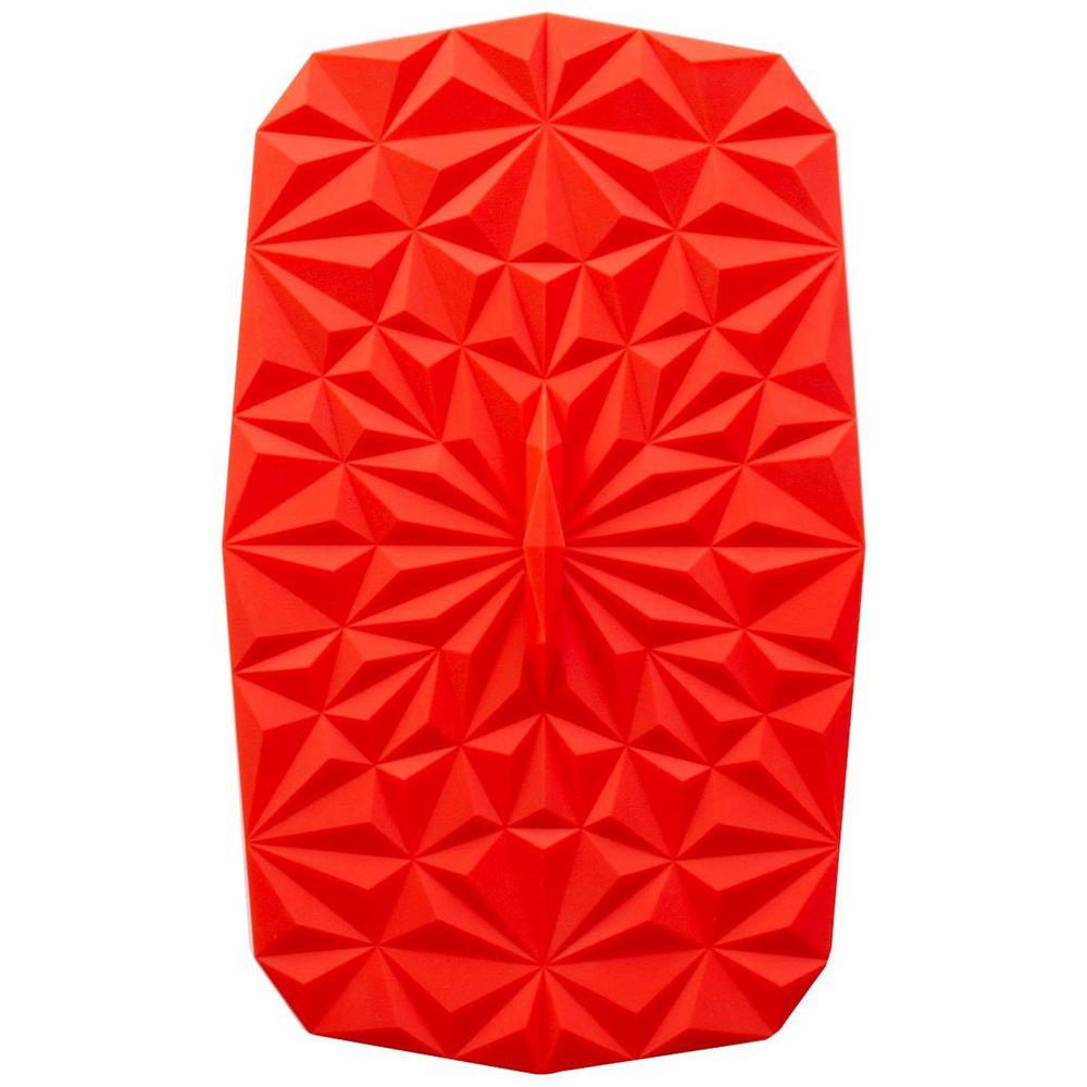 Rectangular Suction 9x6 Silicone Lid in Red