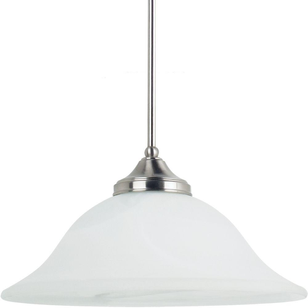 Sea Gull Lighting Brockton 1-Light Brushed Nickel Pendant