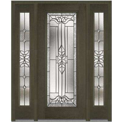 64 In. X 80 In. Cadence Left Hand Inswing Full Lite Decorative Stained