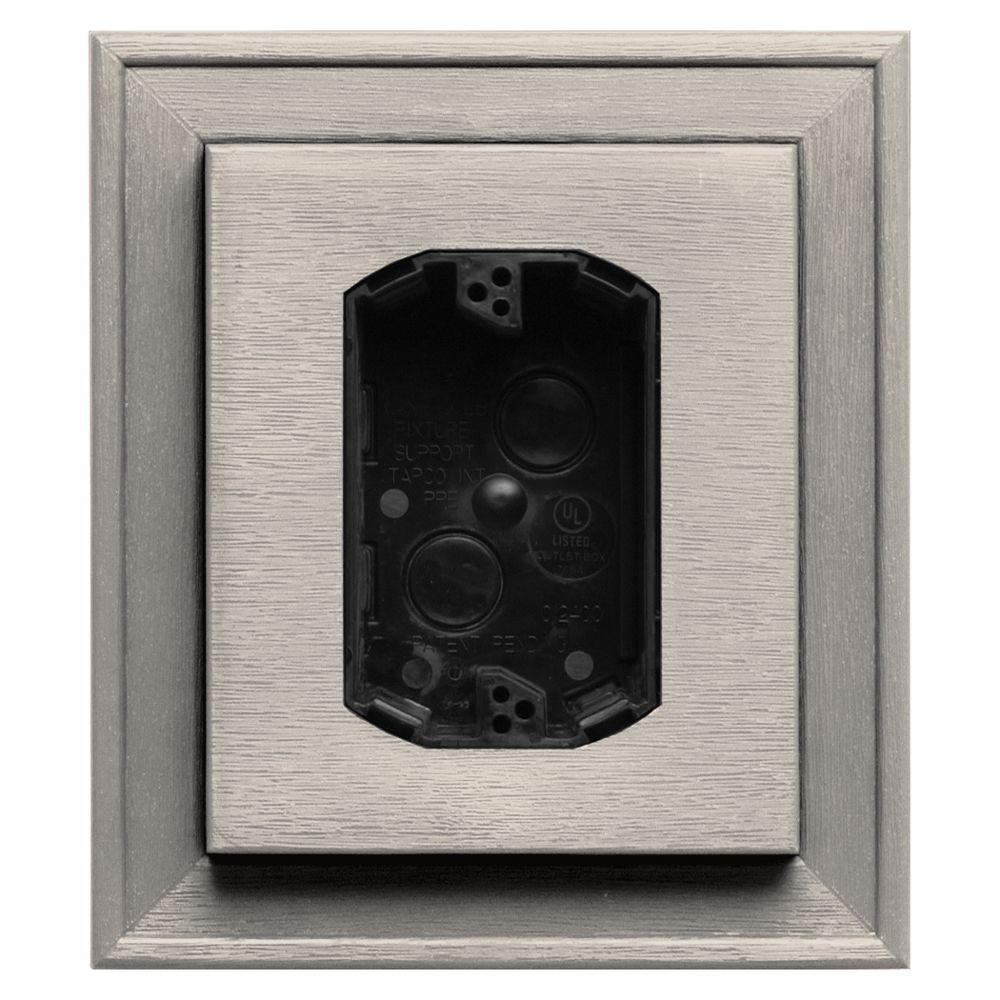 7 in. x 8 in. #048 Almond Electrical Mounting Block