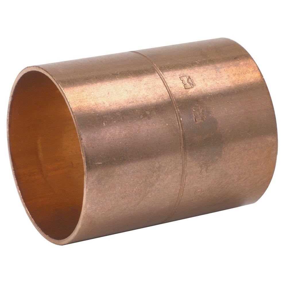 Mueller Streamline 3/4 in  Copper Pressure C x C Coupling with Rolled Stop  (25-Pack)
