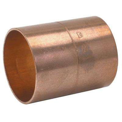 1/2 in. Copper Pressure C x C Coupling with Rolled Stop (25-Pack)