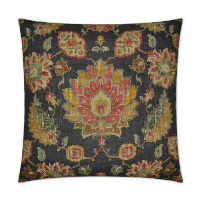 Andromeda Smoke Feather Down 24 in. x 24 in. Standard Decorative Throw Pillow