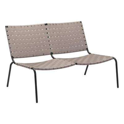 Beckett Light Gray Metal Outdoor Loveseat