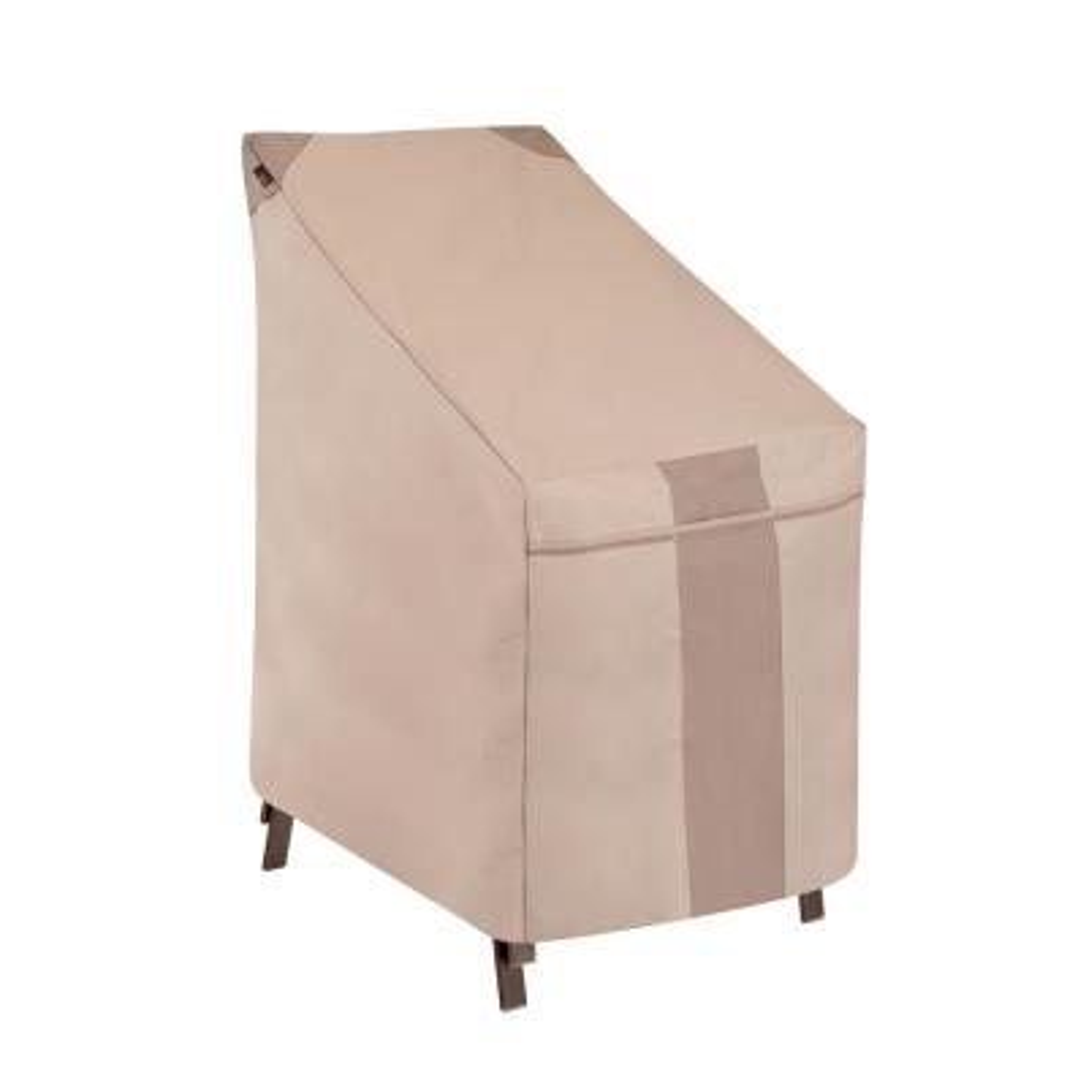 Monterey Water Resistant Outdoor Stackable Patio Chair Cover, 25.5 in. W x 35.5 in. D x 45 in. H, Beige
