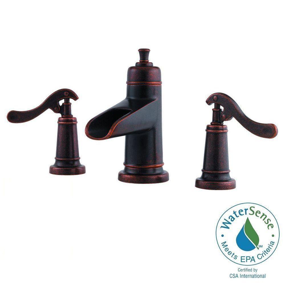 Widespread 2 Handle Bathroom Faucet In Rustic Bronze