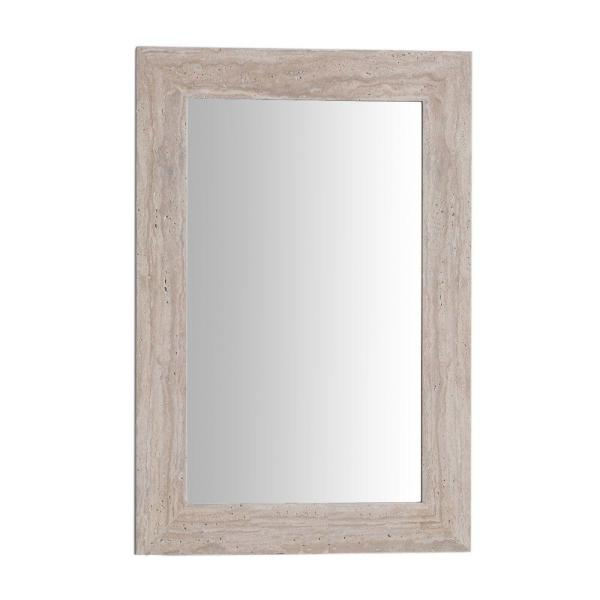 Tigard 24 in. W x 36 in. H Framed Rectangular Bathroom Vanity Mirror in Travertine