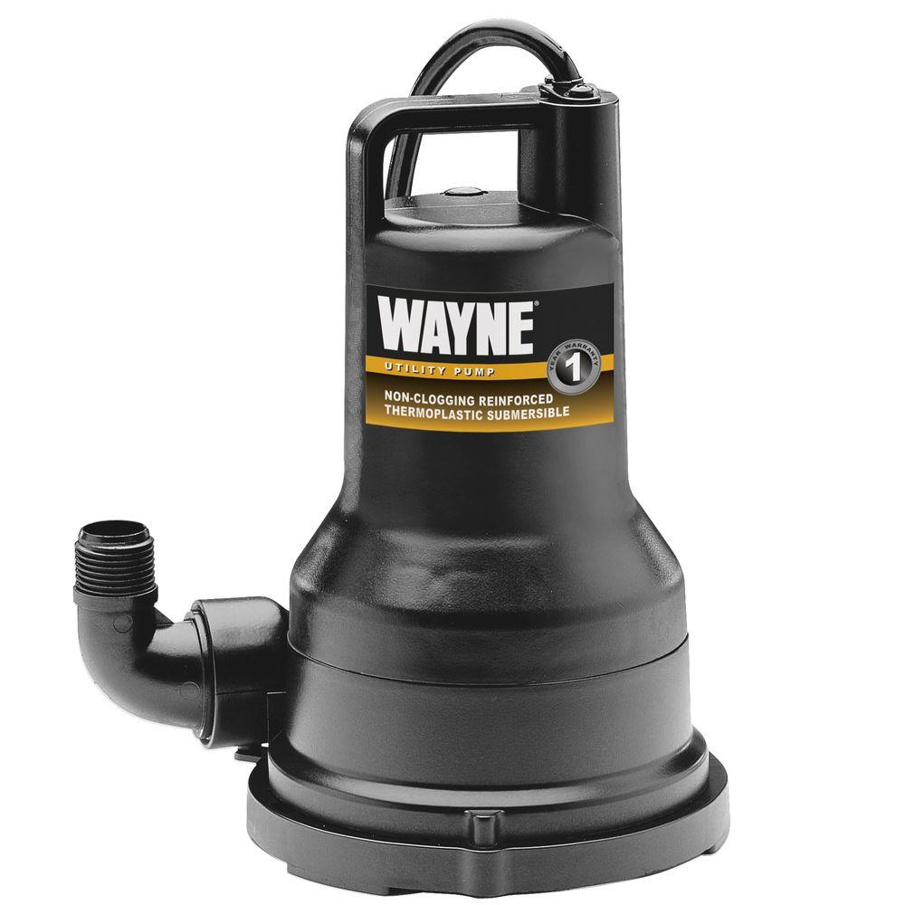 Wayne 1/5 HP Thermoplastic Utility Pump-DISCONTINUED