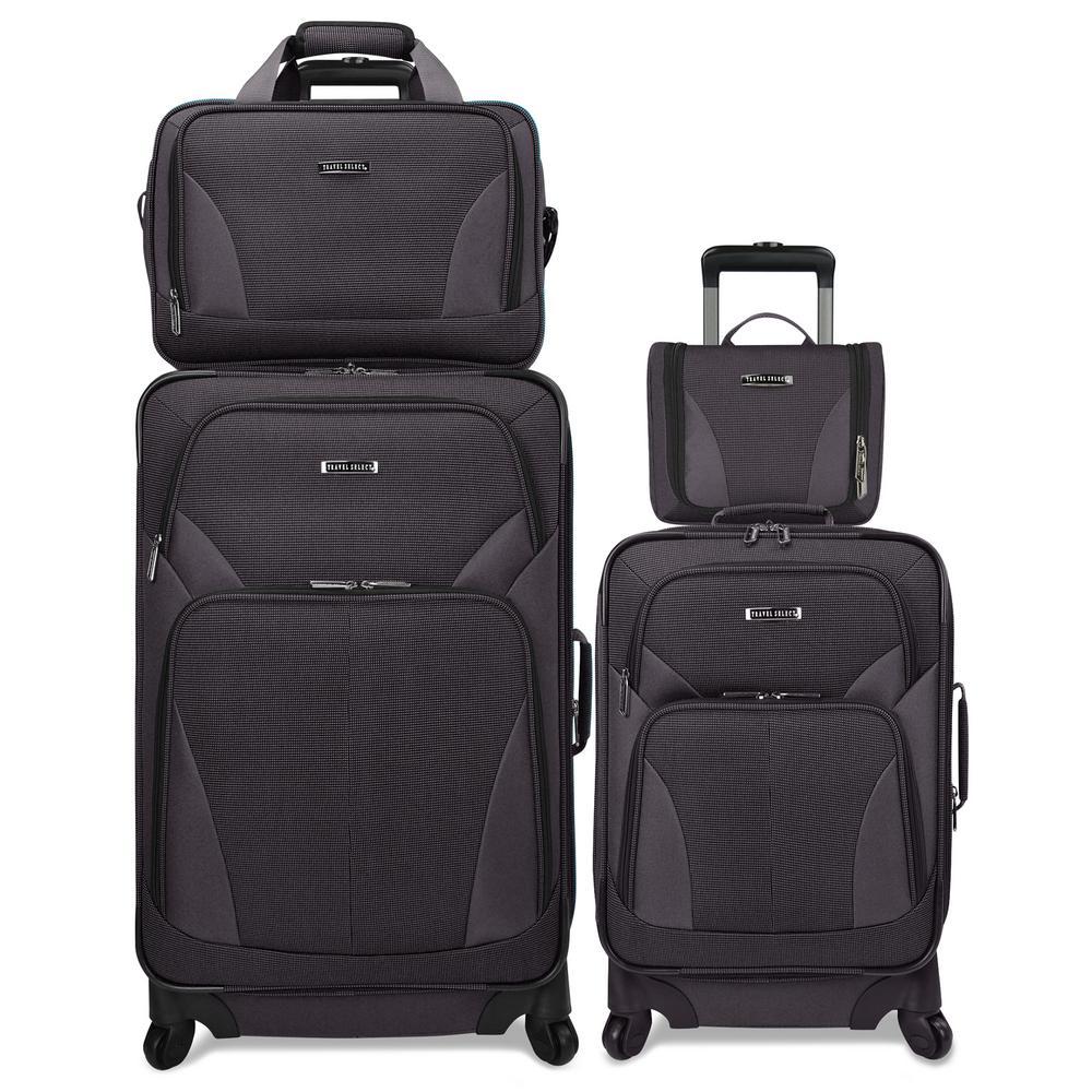 Traveler's Choice 4-Piece Spinner Grey Luggage Set Deals