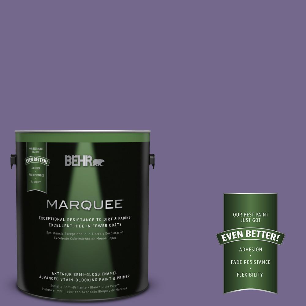 1-gal. #MQ5-41 Violet Vixen Semi-Gloss Enamel Exterior Paint