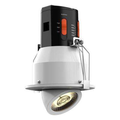 Premium Downlight 4 in. White Integrated LED Recessed Gimbal Kit
