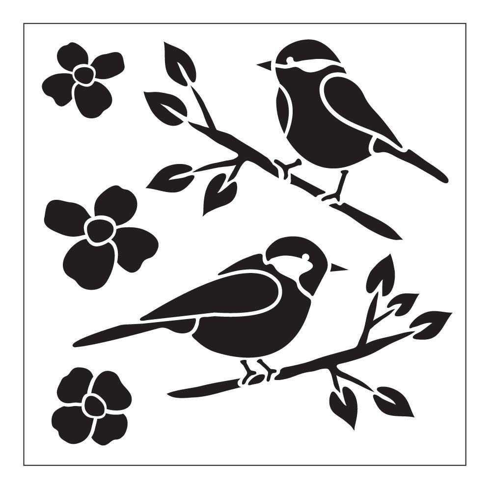 Stencils craft art supplies the home depot birds small painting stencil amipublicfo Images