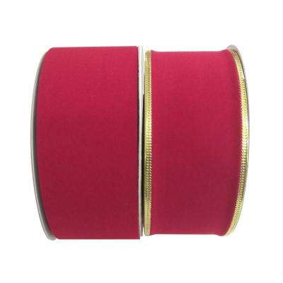 2.5 in. x 75 ft. Holiday Velvet Ribbon (2 Assorted Styles Available)