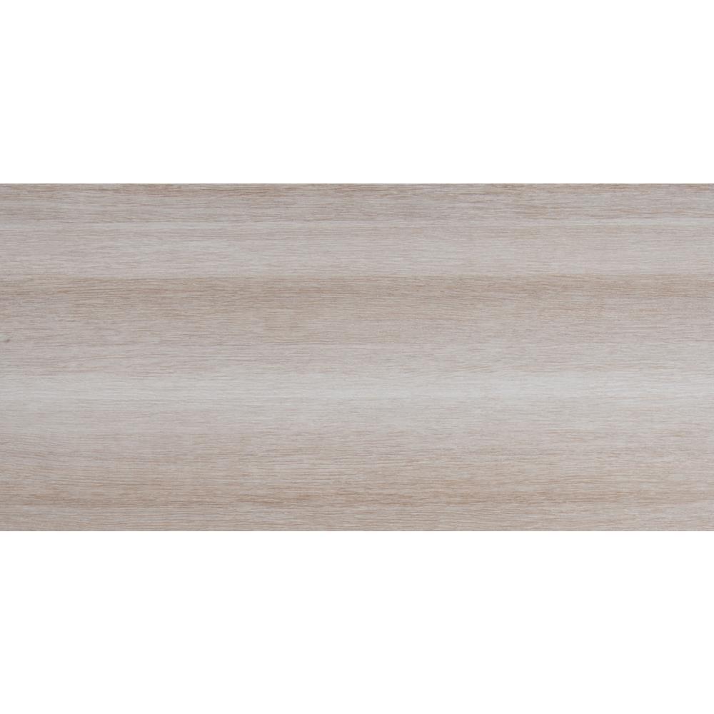 Turin Bianco 12 In X 24 Glazed Ceramic Floor And
