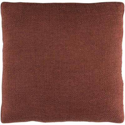 Jadis Brown Solid Polyester 20 in. x 20 in. Throw Pillow