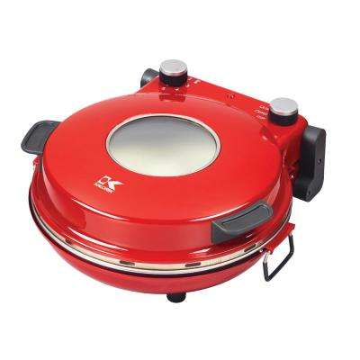 Red High Heat Stone Pizza Oven