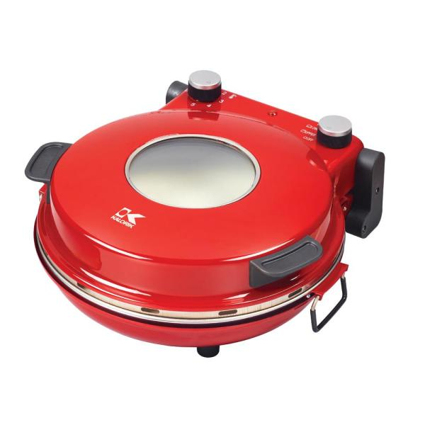 KALORIK High Heat 1200 W Red Countertop Stone Pizza Oven PZM