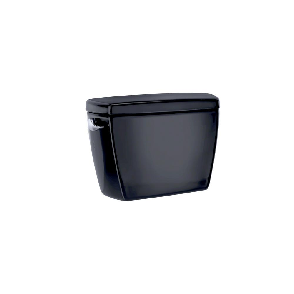 Drake 1.6 GPF Single Flush Toilet Tank Only in Ebony