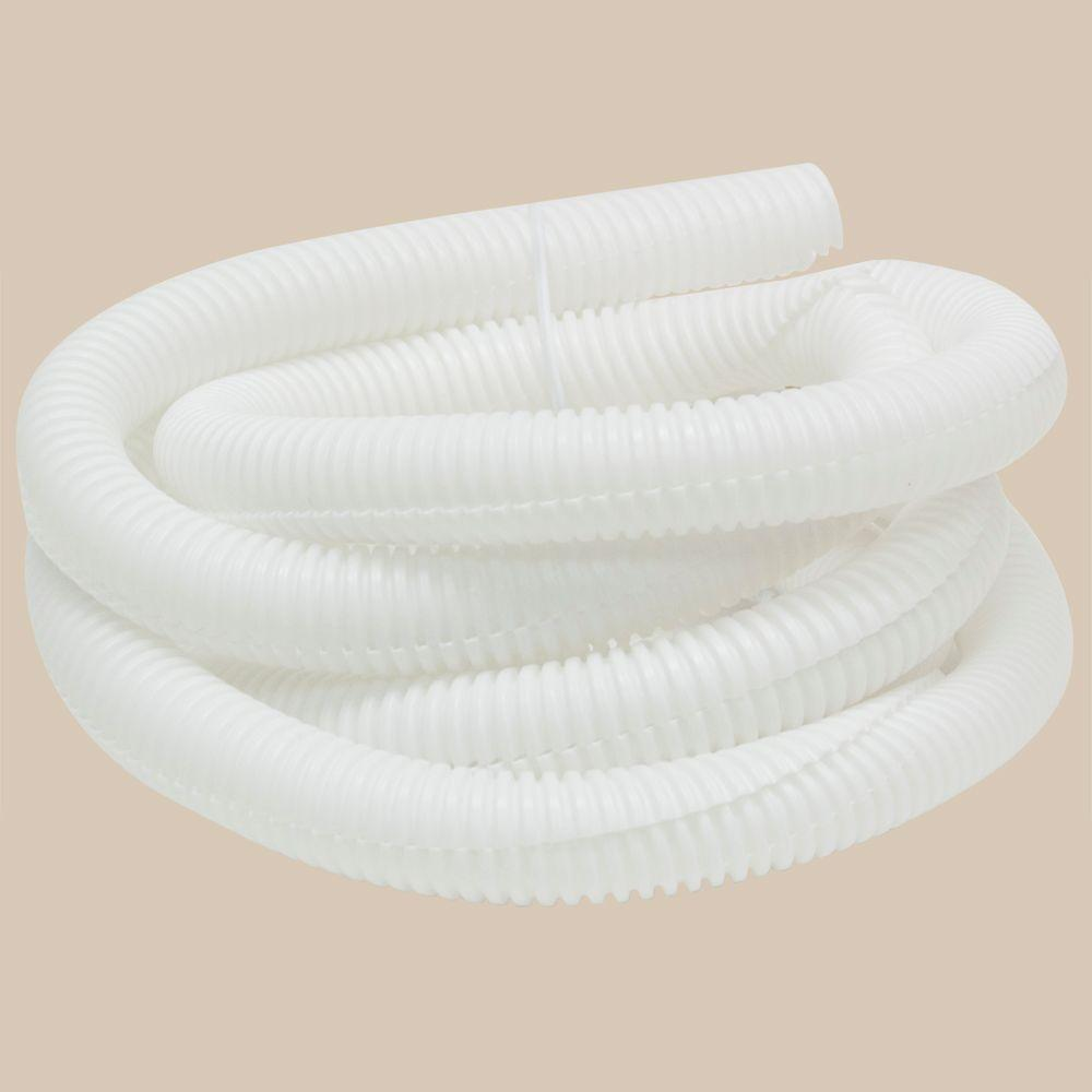 GE 1/2 in. x 6 ft. Cable Neat Cable Tubing, Plastic - White-DISCONTINUED