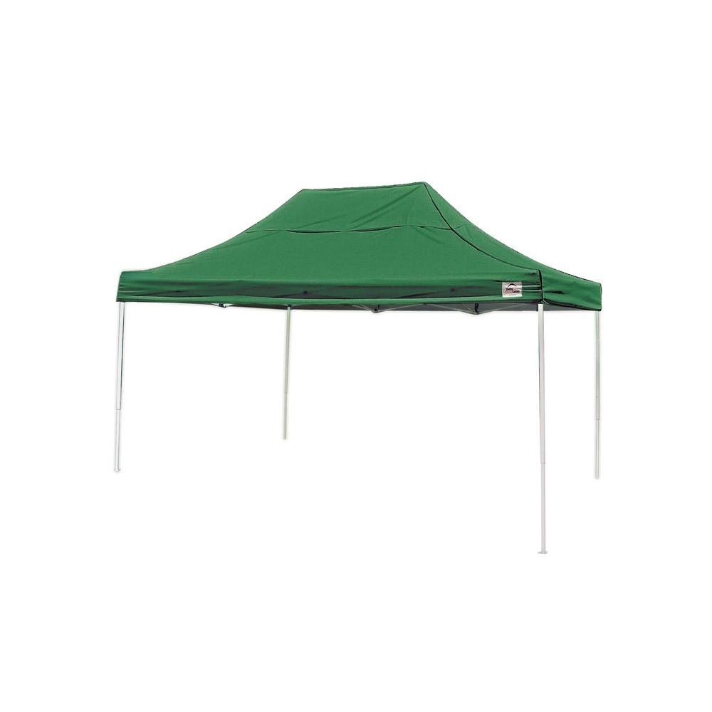 Pro 10 ft. x 15 ft. Green Straight Leg Pop-Up Canopy