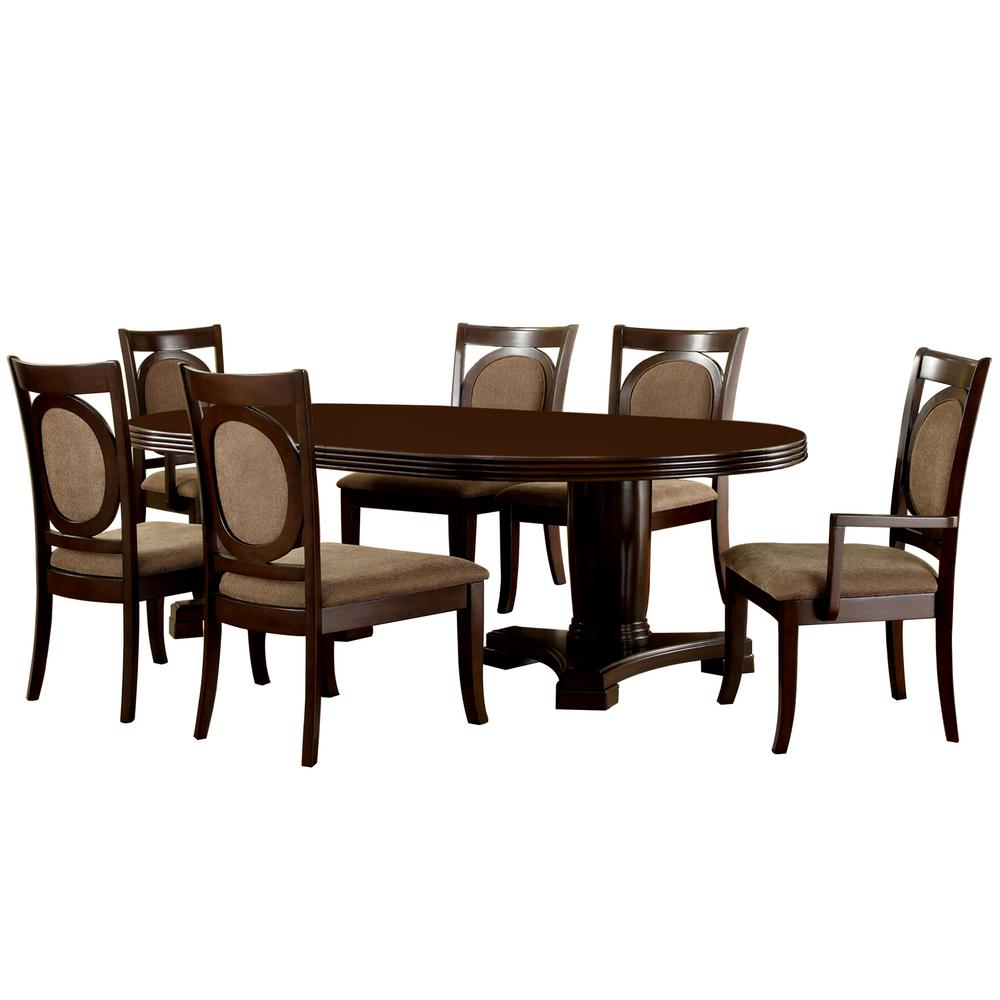 Venetian Worldwide Evelyn 7 Piece Walnut Dining Set
