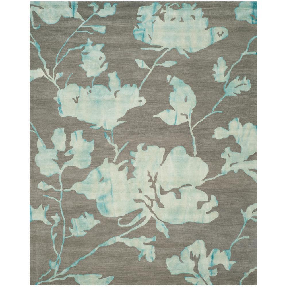 Safavieh Dip Dye Gray Turquoise Area Rug Reviews: Safavieh Dip Dye Gray/Turquoise 9 Ft. X 12 Ft. Area Rug