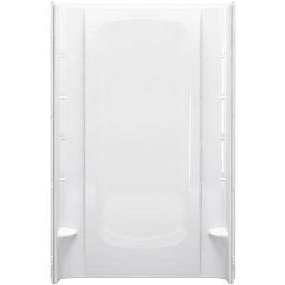 48 in. x 76 in. 1-Piece Direct-to-Stud Alcove Shower Back Wall in White